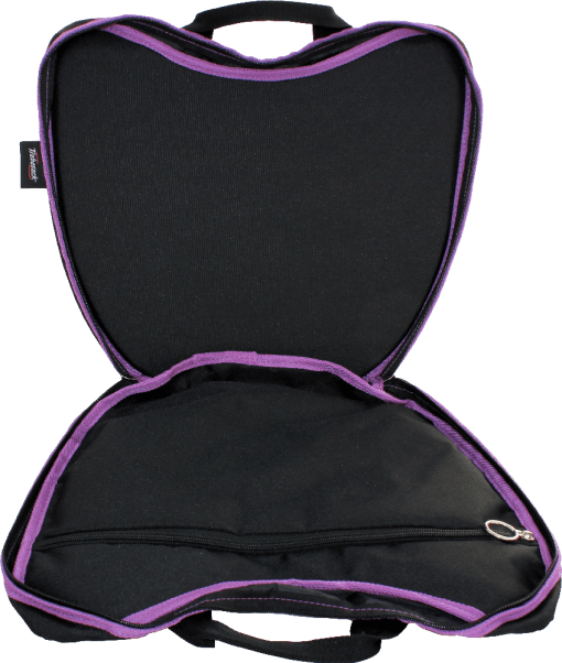 Photograph showing the interior of the Trabasack Curve with Purple Trim