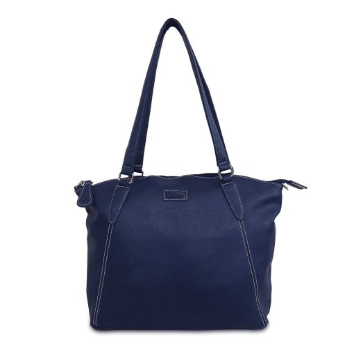 Image shows a ladies shoulder bag in Navy blue on a white background