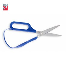 "Image is a photograph of easi-grip self-opening scissors on a white background. In the top lefthand corner there is a logo of the Union Flag with text that reads: ""Made in Britain""."