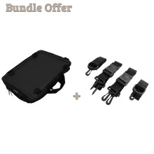"Image is a composite of two photographs, including the Trabasack Mini and a set of side straps. Text reads ""Bundle Offer - Trabasack Mini and Side Straps"""