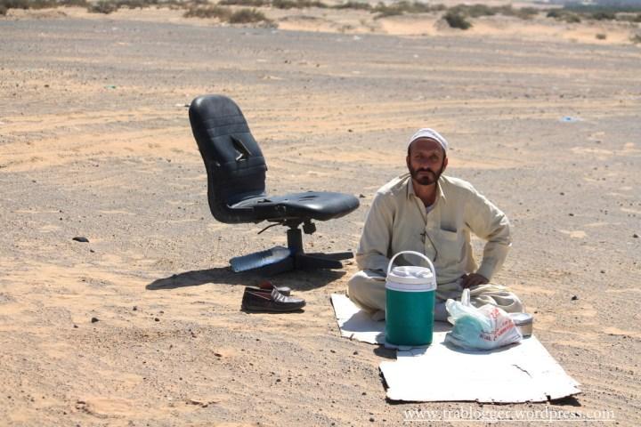 The deserted man