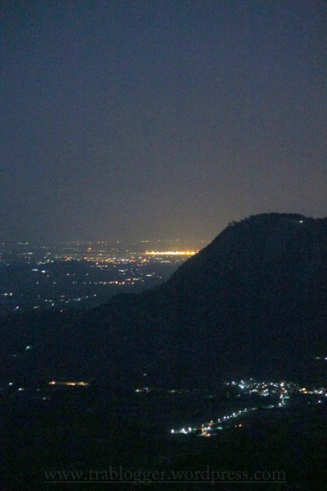 The night, lights and the mountain