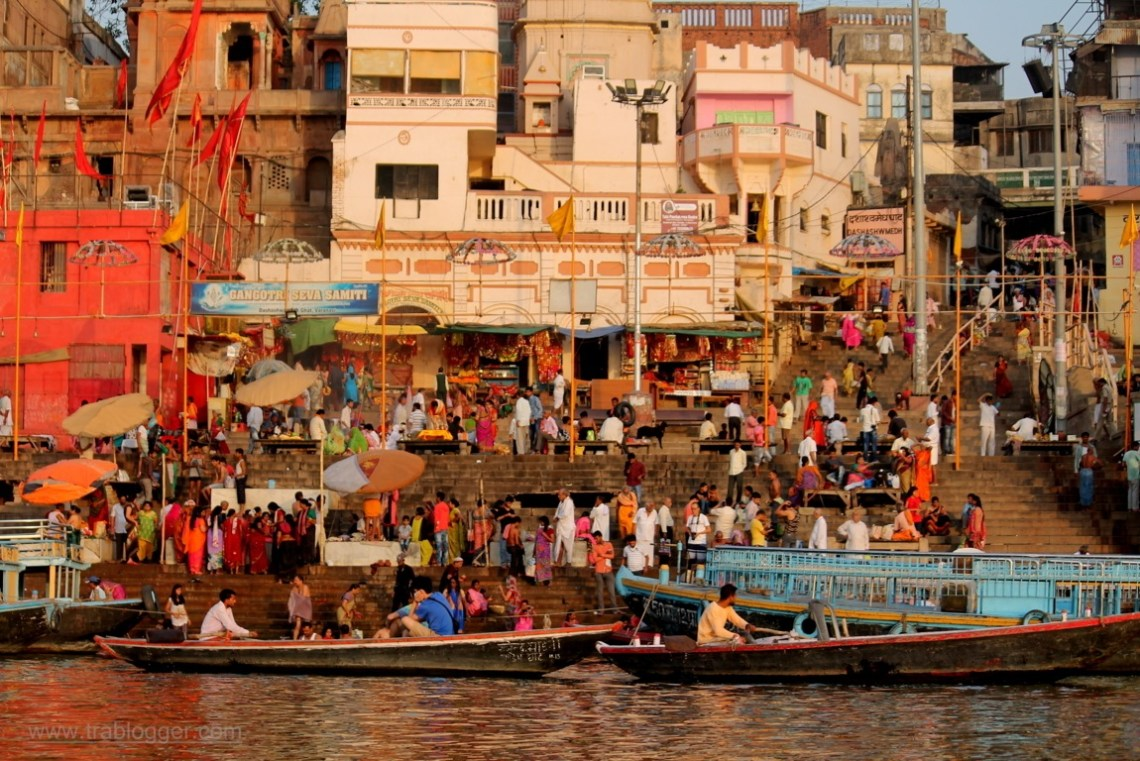 Busy ghat at Varanasi