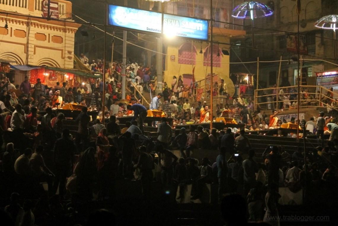Ganga aarti at Varanasi ghats