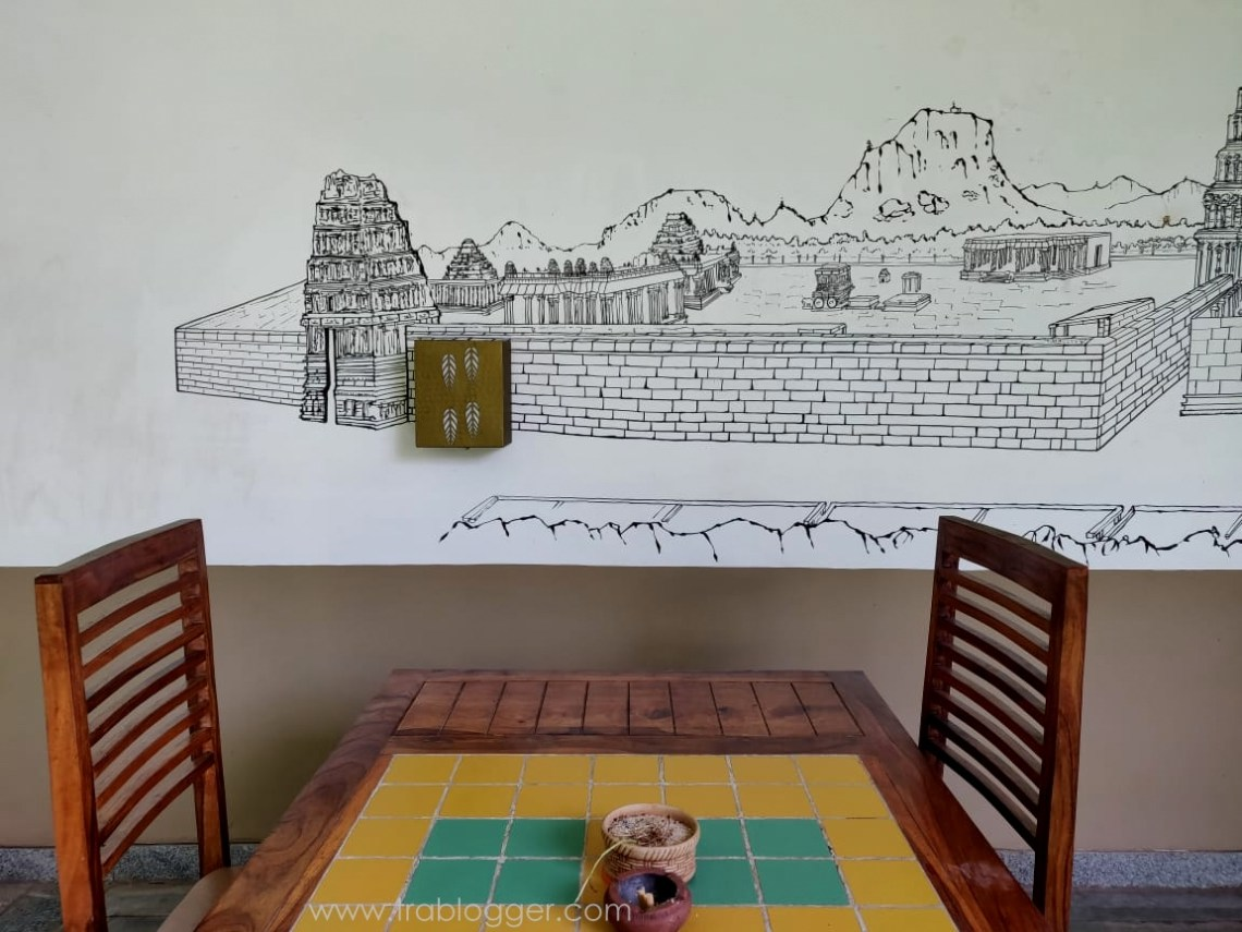 Image of Hampi on the wall done by a local artist
