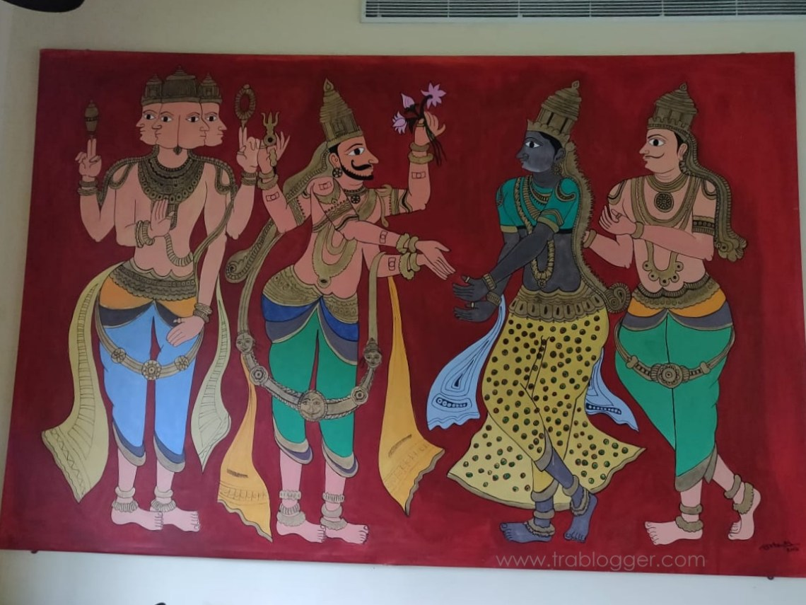Recreation of paining found in Virupaksha temple done by a Local artist Mohammed