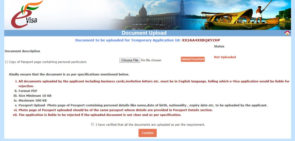 indian e visa application page 7