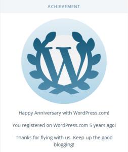 5years of trablogger on wordpress