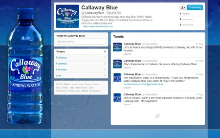 Callaway Blue Spring Water Traceable Creations