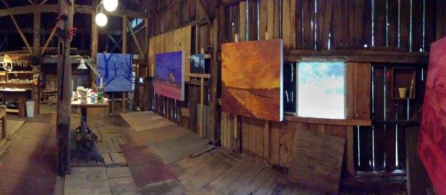 Inside my barn studio