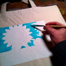 Sunflower Image in Development