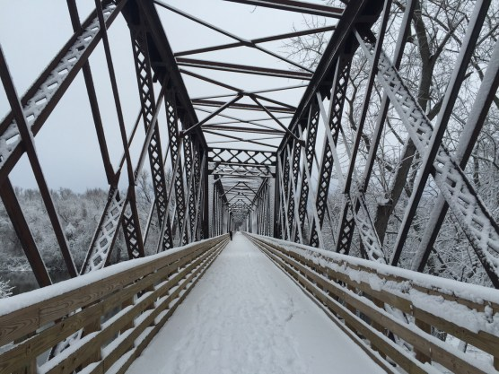 January - Norwottuck Rail Trail bridge