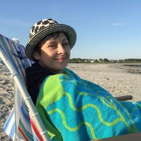 Becca on the beach — copyright Trace Meek