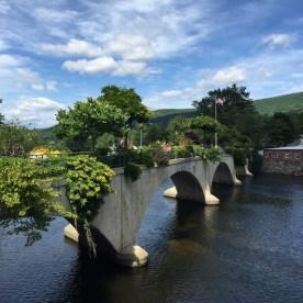 The Bridge of Flowers, Shelburne Falls, MA — copyright Trace Meek