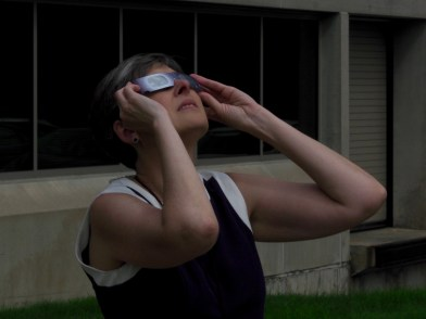 Looking at the eclipse — copyright Trace Meek