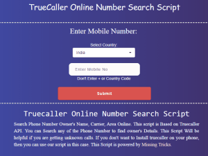 Missingtricks Truecaller: Search Without Sing In