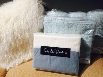 Modern Border (Mist) Duvet Cover & Pale Blue Quilt Set