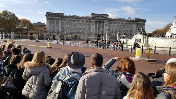 Au moins 20 000 personnes attendent le passage de la Rolls de Sa Majesté, et rien, toujours rien !
