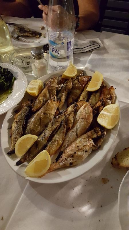 Fritures de gopes (petits poissons)