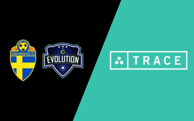 Image showcasing the Cleveland FC, FC Evolution, and Trace logos
