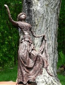 Lucy's first sculpture