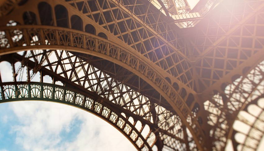 "Photo of the Day: ""Basking"" (An Abstract Photograph of the Eiffel Tower in Paris)"