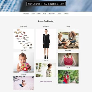 Ethical Fashion Directory with filterable categories