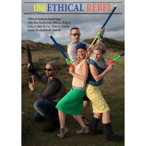 Cover of the Ethical Rebel magazine in Charlie's Angels pose