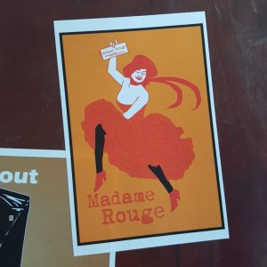 Madame Rouge sticker