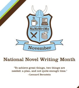 NaNoWriMo crest for writing a novel in November