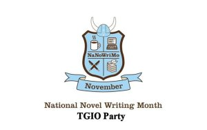 Poster for National Novel Writing Month TGIO Party