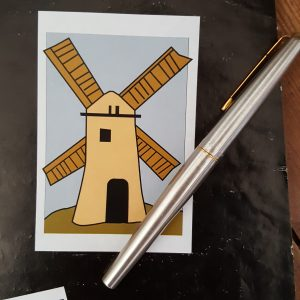 Windmill poster sticker