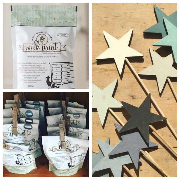 Miss Mustard Seed's Milk Paint and Painted Wooden Stars