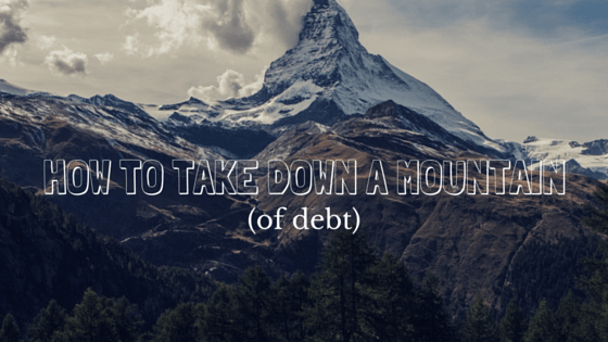 How to take down a mountain (of debt)