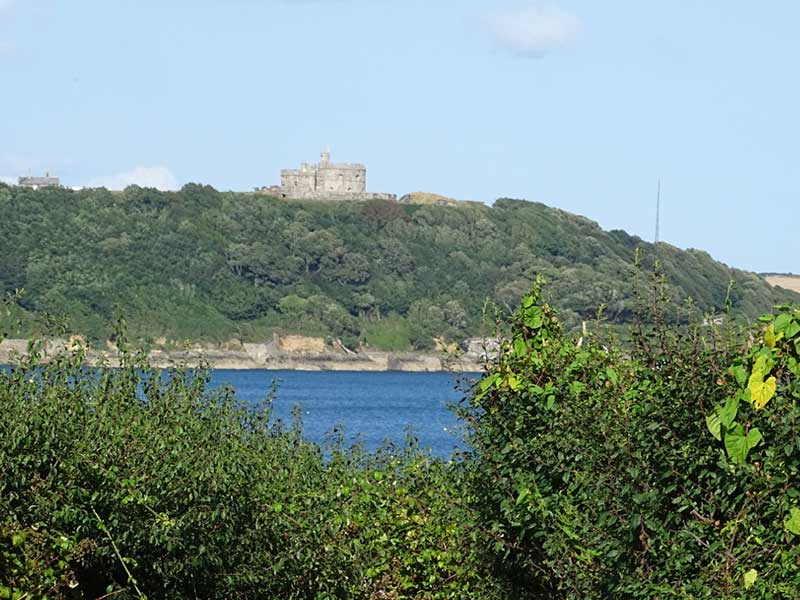 Across the bay to Pendennis Castle
