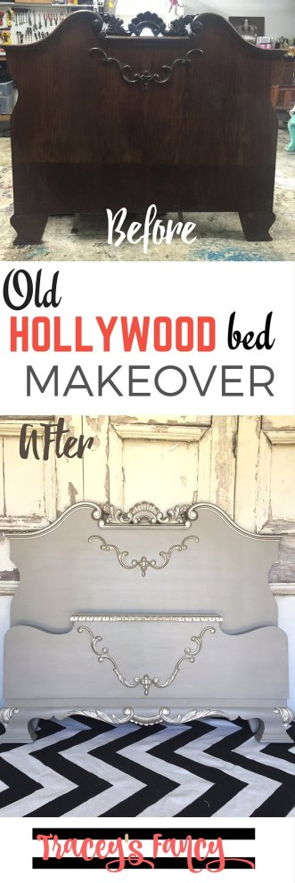Old Hollywood Bed Makeover | Tracey's Fancy