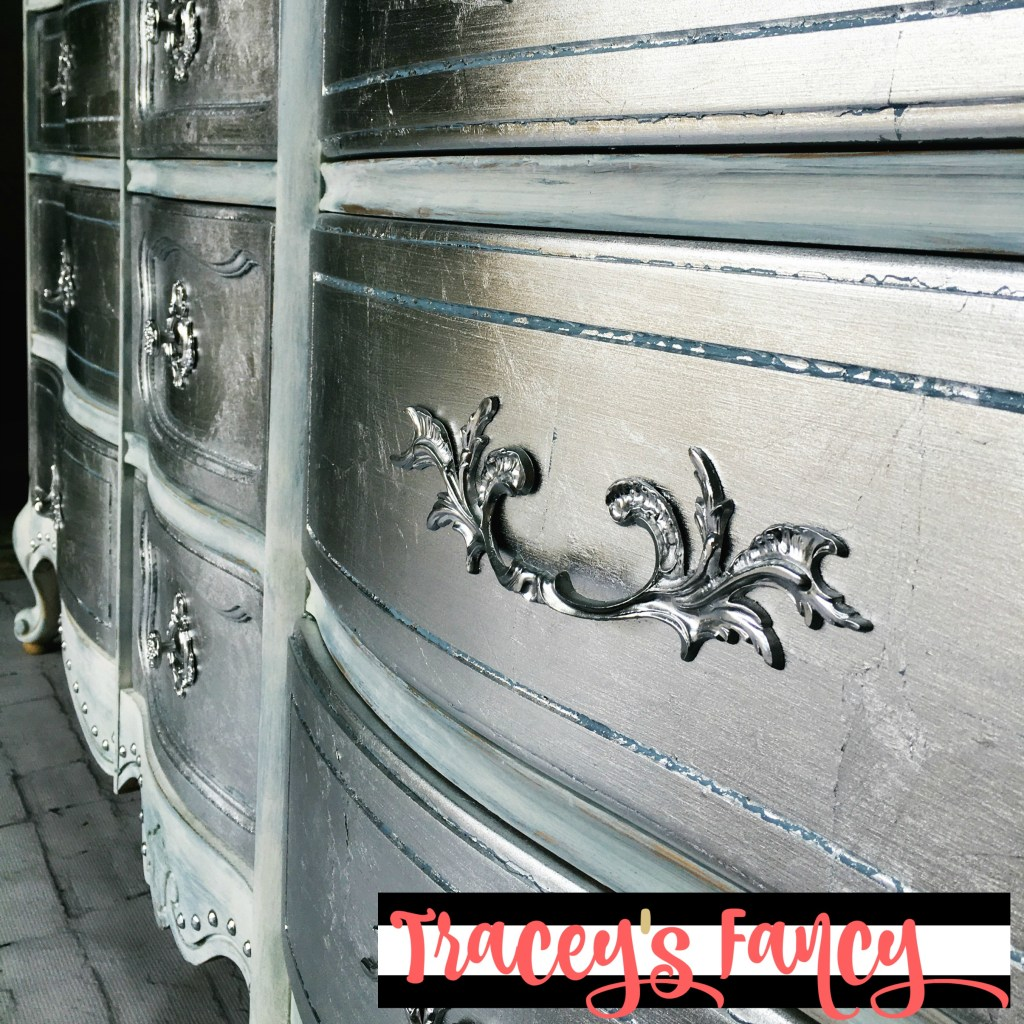 Pin it: Metallic Silver Dresser Drawers | Tracey's Fancy