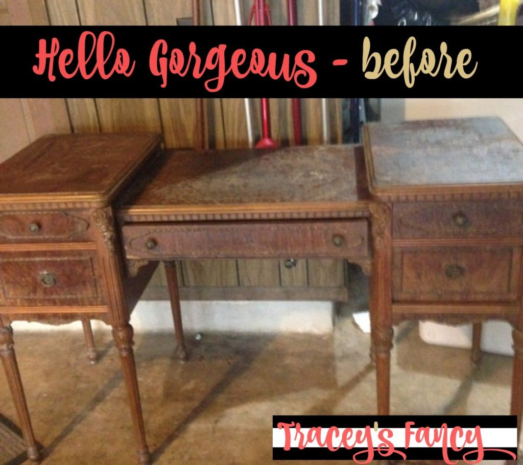 Painted Vanity Before | Tracey's Fancy