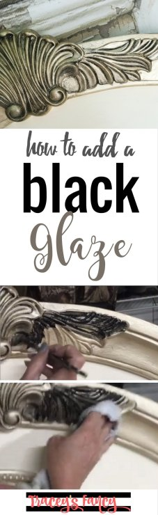 Painting Tip Black Glaze | Tracey's Fancy