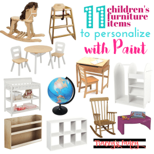 Children's Furniture & Items to Paint & Personalize | Tracey's Fancy