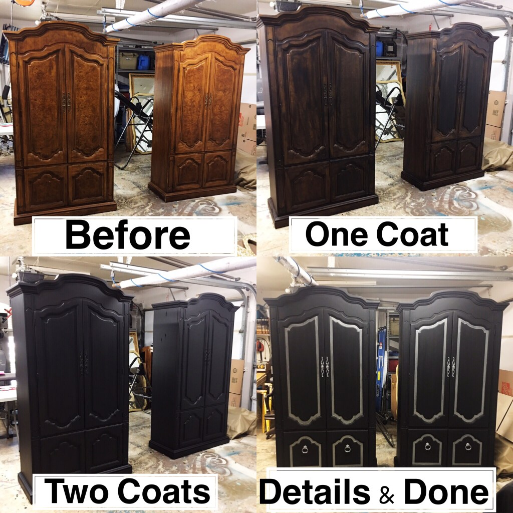 Twin Painted Armoires & How to Paint Furniture Fast Without Primer and Wax | Tracey's Fancy