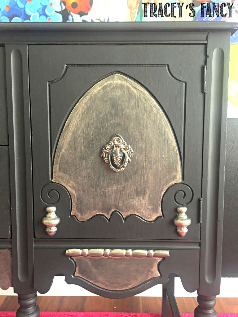 A Painted Black Buffet - The Fastest Way to Paint Furniture