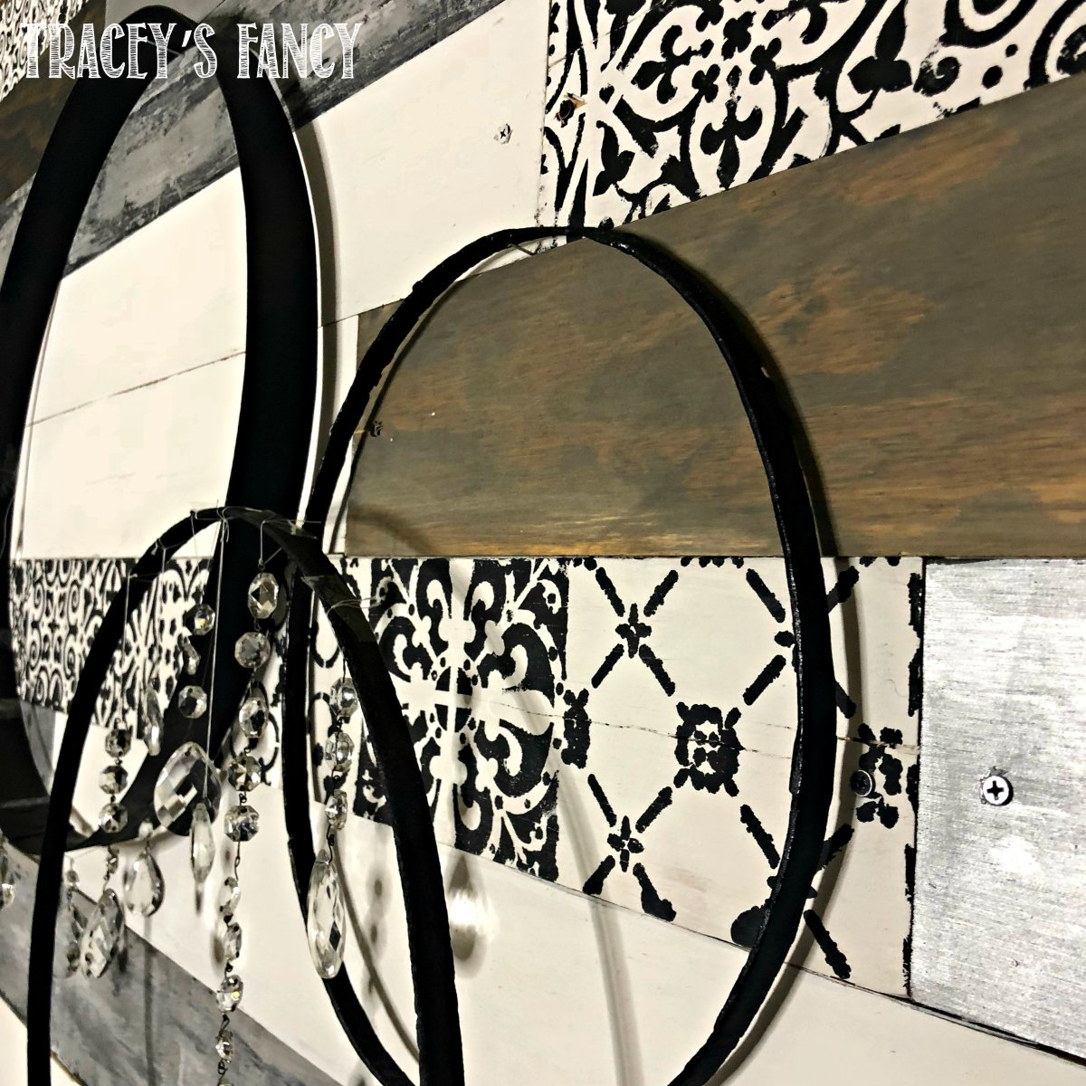 Metallic Wood Plank Wall Tracey's Fancy 3