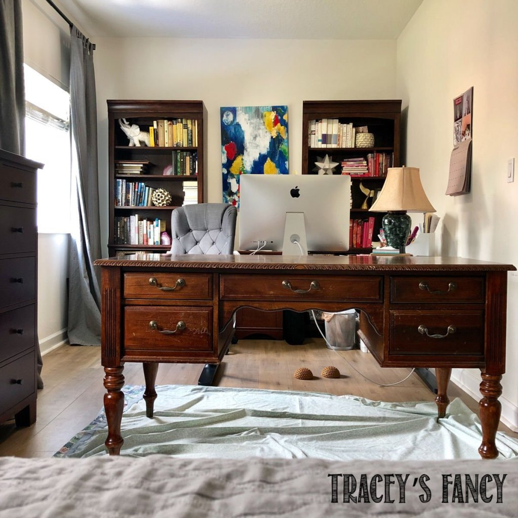 bold cobalt blue desk by Tracey's Fancy
