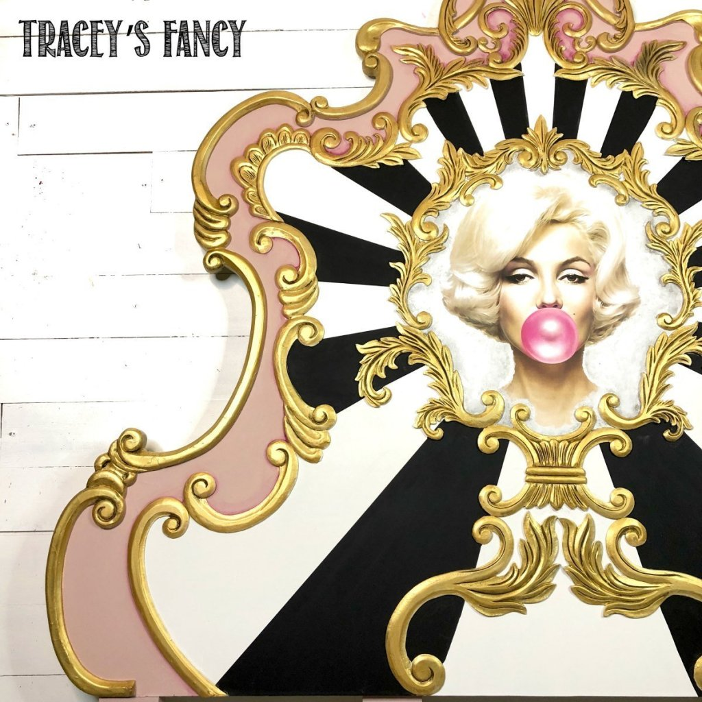 Marilyn Monroe Whimsical Pop Art Bed by Tracey's Fancy