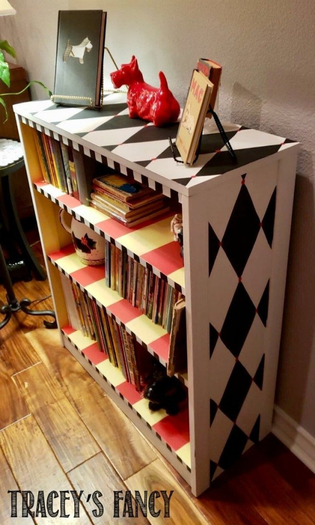 Whimsical Bookshelf by Tracey's Fancy