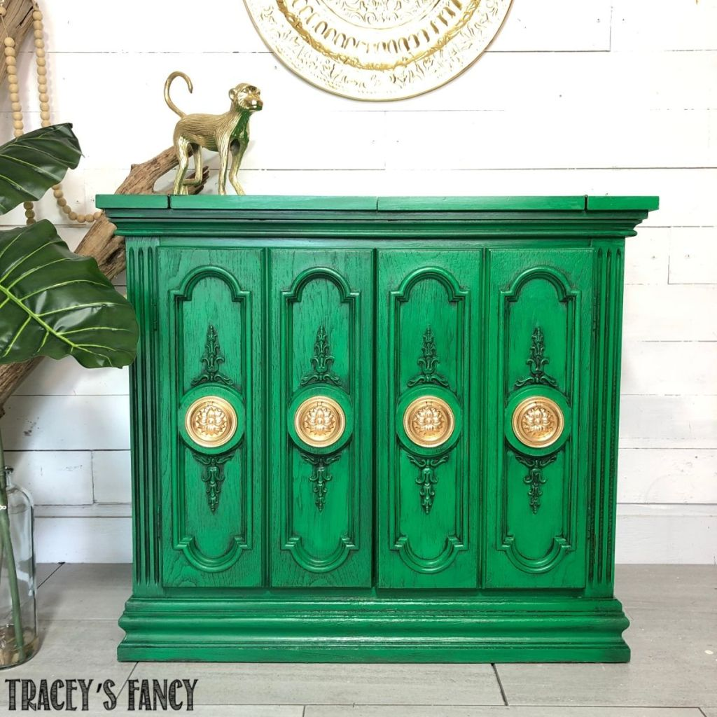 Green Buffet Table by Tracey's Fancy