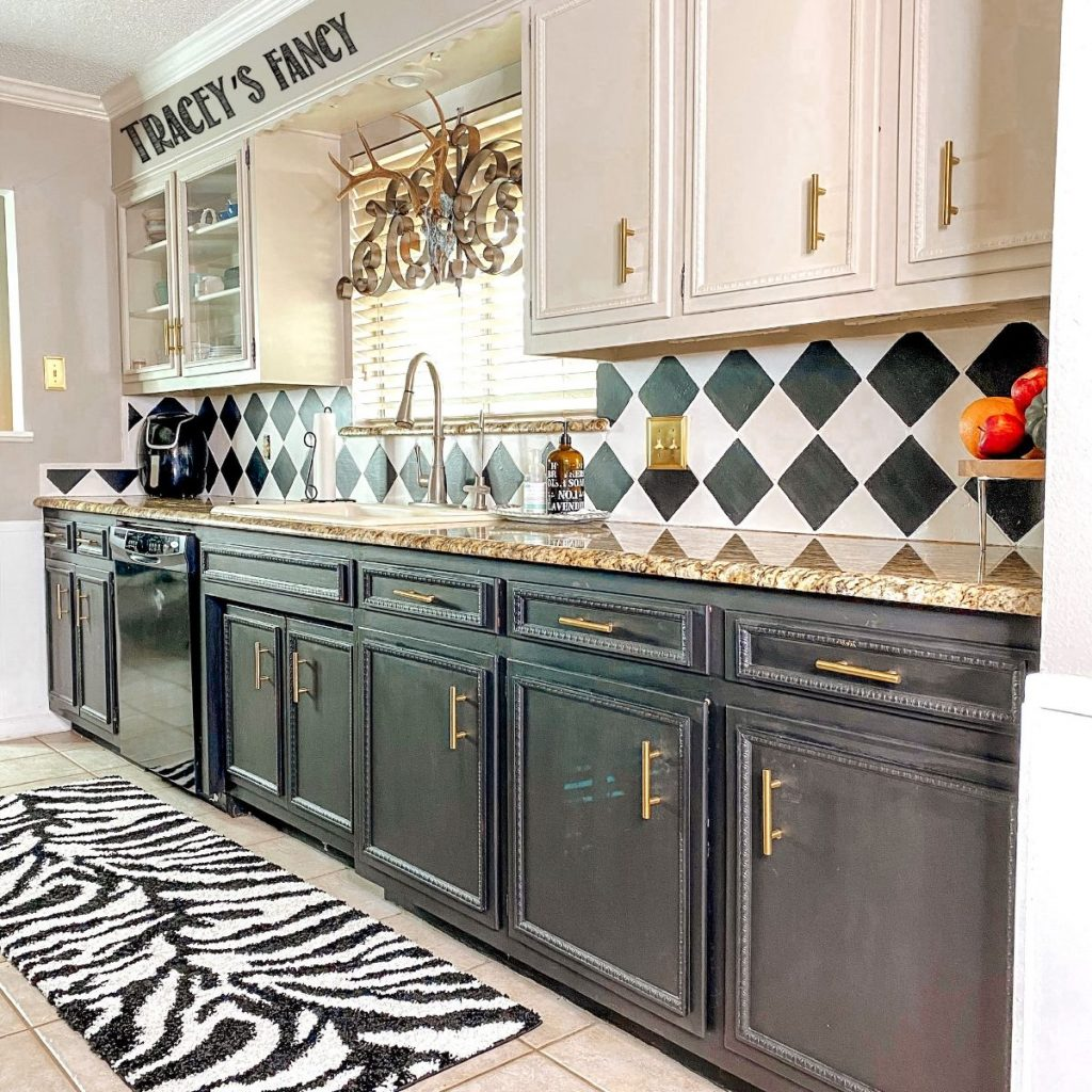 how to paint backsplash tiles with