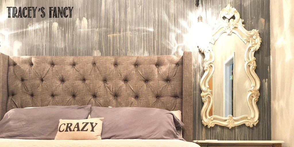 Serene master bedroom water washed wall mural | Tracey's Fancy