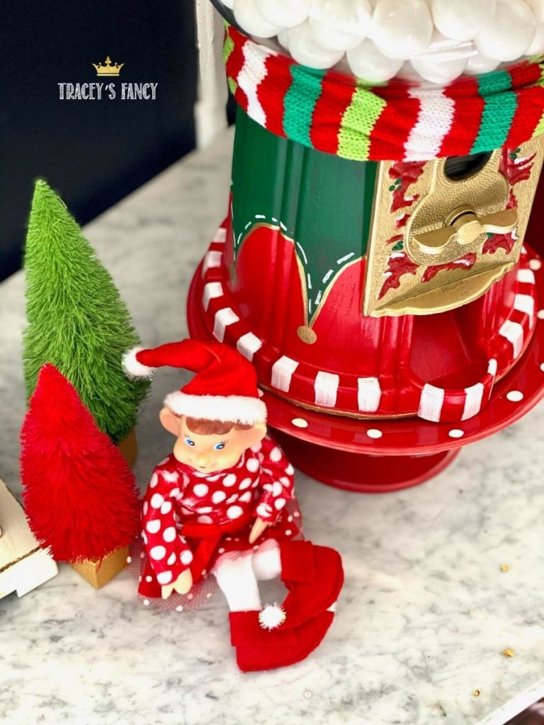 elf gumball machine by Tracey's Fancy